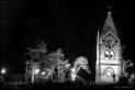 Chapel on haunted hill night