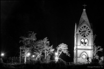 Chapel on haunted hill night