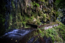 The most dangerous place of the levada, be careful not to fall!!