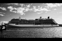 This cruise ship is 317 meters long, it's amazing!