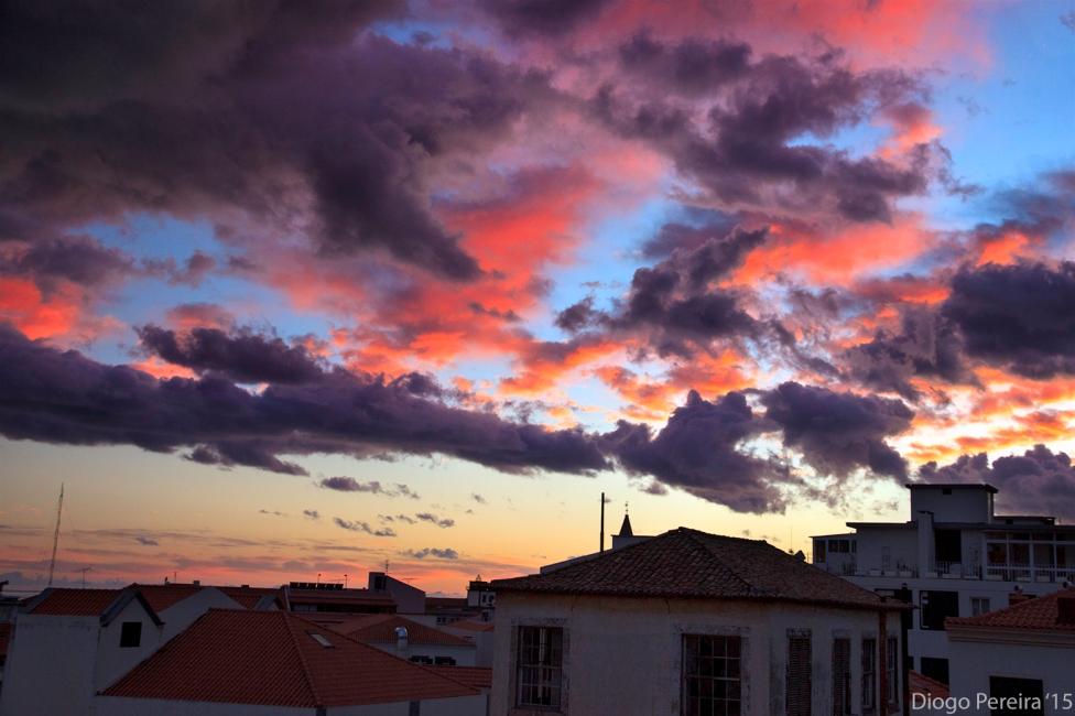 sky, sunset, purple, red,