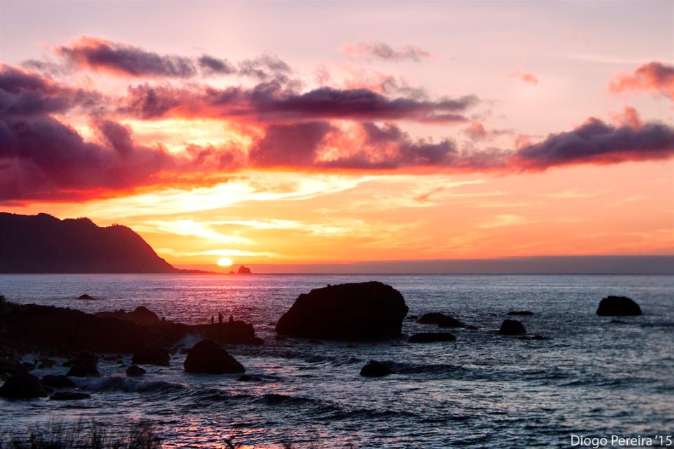 sunset Madeira Island